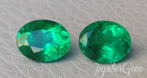 Spectacular Pair of Emeralds