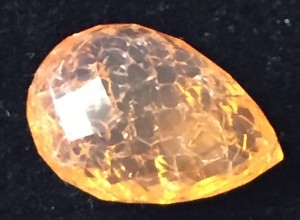 Fire opal with crazing