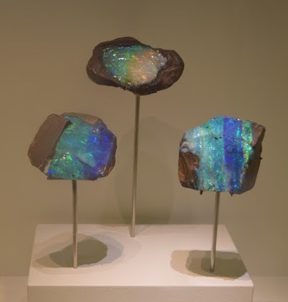 Boulder opal with play of color