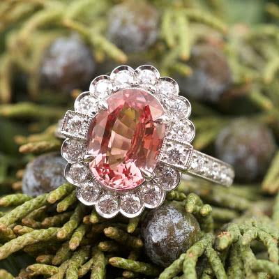Orangish Pink Stunning Sapphire Ring